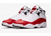 Баскетбольные кроссовки Nike Air Jordan 6 Rings White/University Red/Black - Фото 3