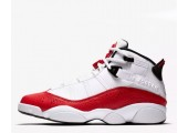 Баскетбольные кроссовки Nike Air Jordan 6 Rings White/University Red/Black - Фото 1