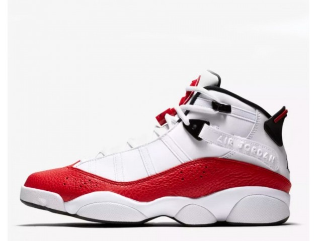 Баскетбольные кроссовки Nike Air Jordan 6 Rings White/University Red/Black