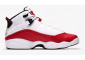 Баскетбольные кроссовки Nike Air Jordan 6 Rings White/University Red/Black - Фото 5