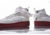 Кроссовки Nike SF Air Force 1 Utility Mid White/Gum - Фото 10