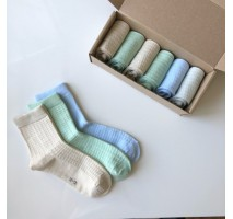 Набор детских носочков Клеточка
