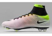 Футбольные бутсы Nike Mercurial Superfly Radiant Reveal FG White/Black/Volt/Total Orange - Фото 2