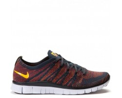 Кроссовки Nike Free Flyknit NSW Anthracite/Laser Orange