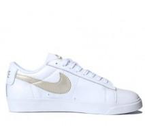 Кроссовки Nike Blazer Low Leather White/Haki Gold