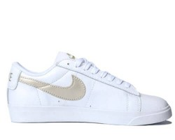Кроссовки Nike Blazer Low Leather White/Haki Gold