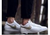 Кроссовки Nike Blazer Low Leather White/Haki Gold - Фото 4