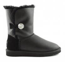 UGG Bailey Button Bling Leather Black II