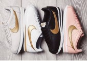 Кроссовки Nike Cortez Glitter Pack White/Gold - Фото 3