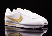 Кроссовки Nike Cortez Glitter Pack White/Gold - Фото 5