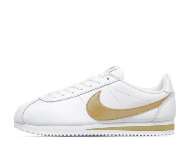 Кроссовки Nike Cortez Glitter Pack White/Gold
