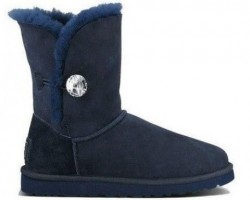 UGG BAILEY BUTTON BLING BOOT NAVY