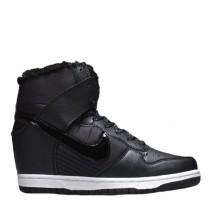 Сникерсы Nike WMNS Dunk Hight Black С МЕХОМ