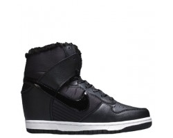 Сникерсы Nike WMNS Dunk Hight Black С МЕХОМ