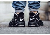 Кроссовки Nike Air More Uptempo Black/White - Фото 2