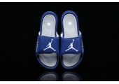 Шлепанцы Off White x Jordan Hydro 6 Blue - Фото 3