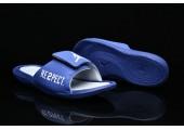 Шлепанцы Off White x Jordan Hydro 6 Blue - Фото 5
