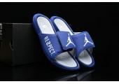 Шлепанцы Off White x Jordan Hydro 6 Blue - Фото 4