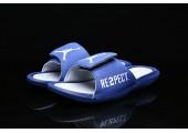 Шлепанцы Off White x Jordan Hydro 6 Blue - Фото 7