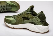 Кроссовки Nike Air Huarache Run Premium Palm Green/Legion Green-Sail - Фото 1