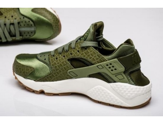Кроссовки Nike Air Huarache Run Premium Palm Green/Legion Green-Sail