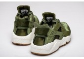 Кроссовки Nike Air Huarache Run Premium Palm Green/Legion Green-Sail - Фото 4