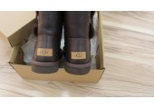 UGG BAILEY BUTTON II BOOT LEATHER BROWN - Фото 3