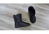 UGG BAILEY BUTTON II BOOT LEATHER BROWN - Фото 8