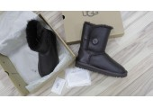 UGG BAILEY BUTTON II BOOT LEATHER BROWN - Фото 6