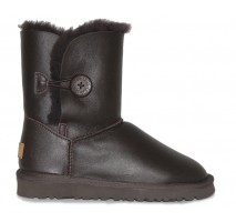 UGG BAILEY BUTTON II BOOT LEATHER BROWN