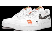 Кроссовки Nike Air Force 1 07 Just Do It Pack White - Фото 4