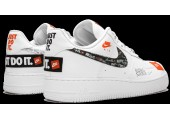 Кроссовки Nike Air Force 1 07 Just Do It Pack White - Фото 3
