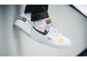 Кроссовки Nike Air Force 1 07 Just Do It Pack White - Фото 7
