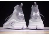 Баскетбольные кроссовки Under Armour Curry 4 Light Grey - Фото 5