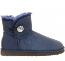 UGG MINI BAILEY BUTTON BLING BOOT NAVY