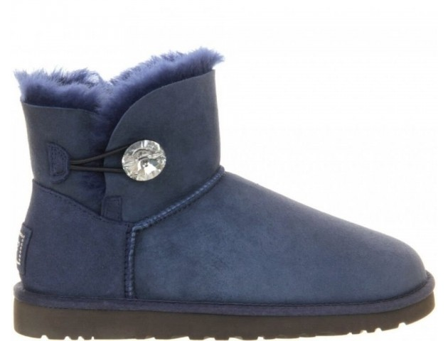 UGG Bailey Button Mini Bling Blue