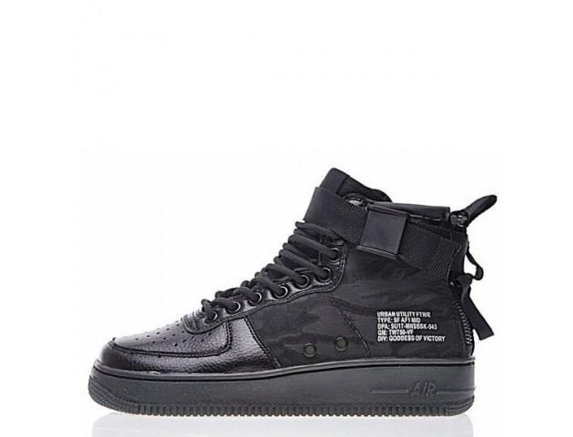 Кроссовки Nike SF Air Force 1 Utility Mid All Black