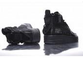 Кроссовки Nike SF Air Force 1 Utility Mid All Black - Фото 7