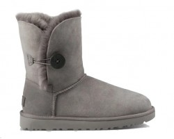 UGG BAILEY BUTTON II BOOT GREY