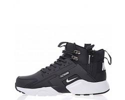 Кроссовки Nike Huarache X Acronym City MID Leather Black/White