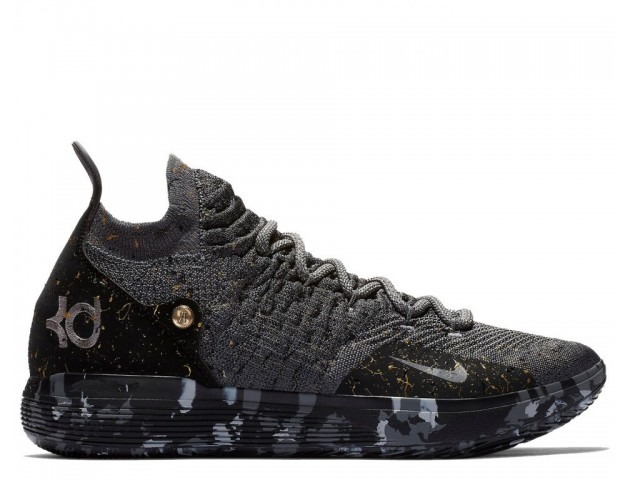Баскетбольные кроссовки Nike KD 11 Gold Splatter Multi-Color/Metallic Gold