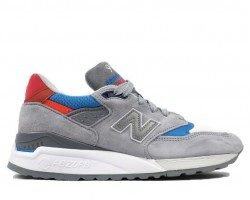 Кроссовки New Balance 998 Grey/Blue/Red