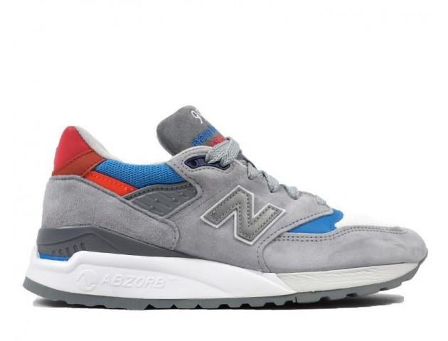 Кроссовки New Balance 998 Grey/Blue/Red