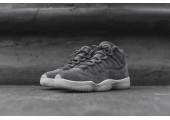 Баскетбольные кроссовки Air Jordan 11 Retro Premium Grey Suede - Фото 2
