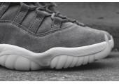 Баскетбольные кроссовки Air Jordan 11 Retro Premium Grey Suede - Фото 4