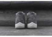 Баскетбольные кроссовки Air Jordan 11 Retro Premium Grey Suede - Фото 3