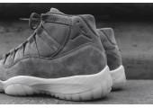 Баскетбольные кроссовки Air Jordan 11 Retro Premium Grey Suede - Фото 5