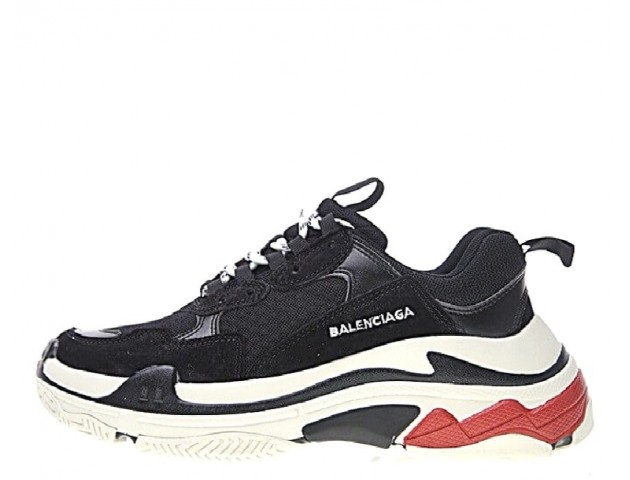 Кроссовки Balenciaga Triple-S Black/White/Red