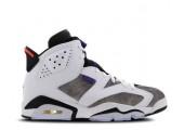 Баскетбольные кроссовки Nike Air Jordan 6 Retro White/Grey - Фото 1