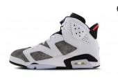 Баскетбольные кроссовки Nike Air Jordan 6 Retro White/Grey - Фото 4